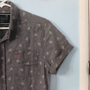 Other - Slim Fit Small Gray Button Up